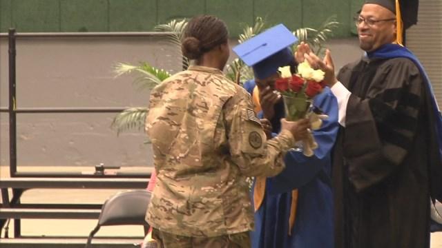 Military mom surprises daughter at high school graduation (Image 1)_16063