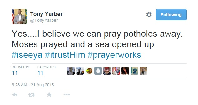 yarber tweet about potholes_48991
