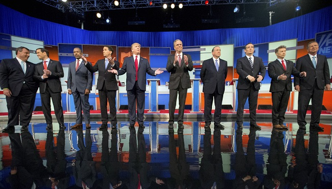 Chris Christie, Marco Rubio, Ben Carson, Scott Walker, Donald Trump, Jeb Bush, Mike Huckabee, Ted Cruz, Rand Paul, John Kasich_62315