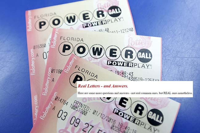 Free laughs: Read 'Real Letters' to Powerball