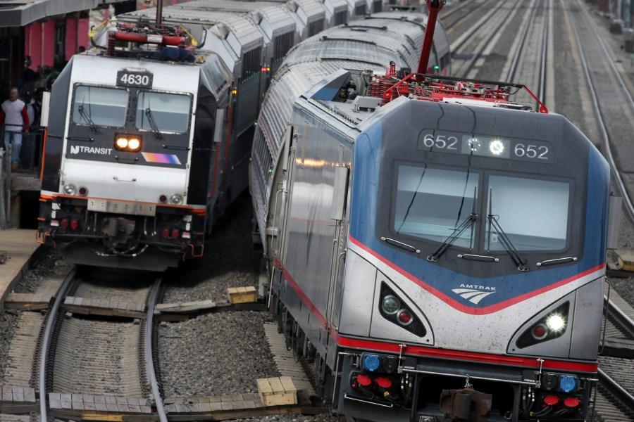 FILE PHOTO New Jersey commuter trains Photo by Mel Evans, AP Photo_218187