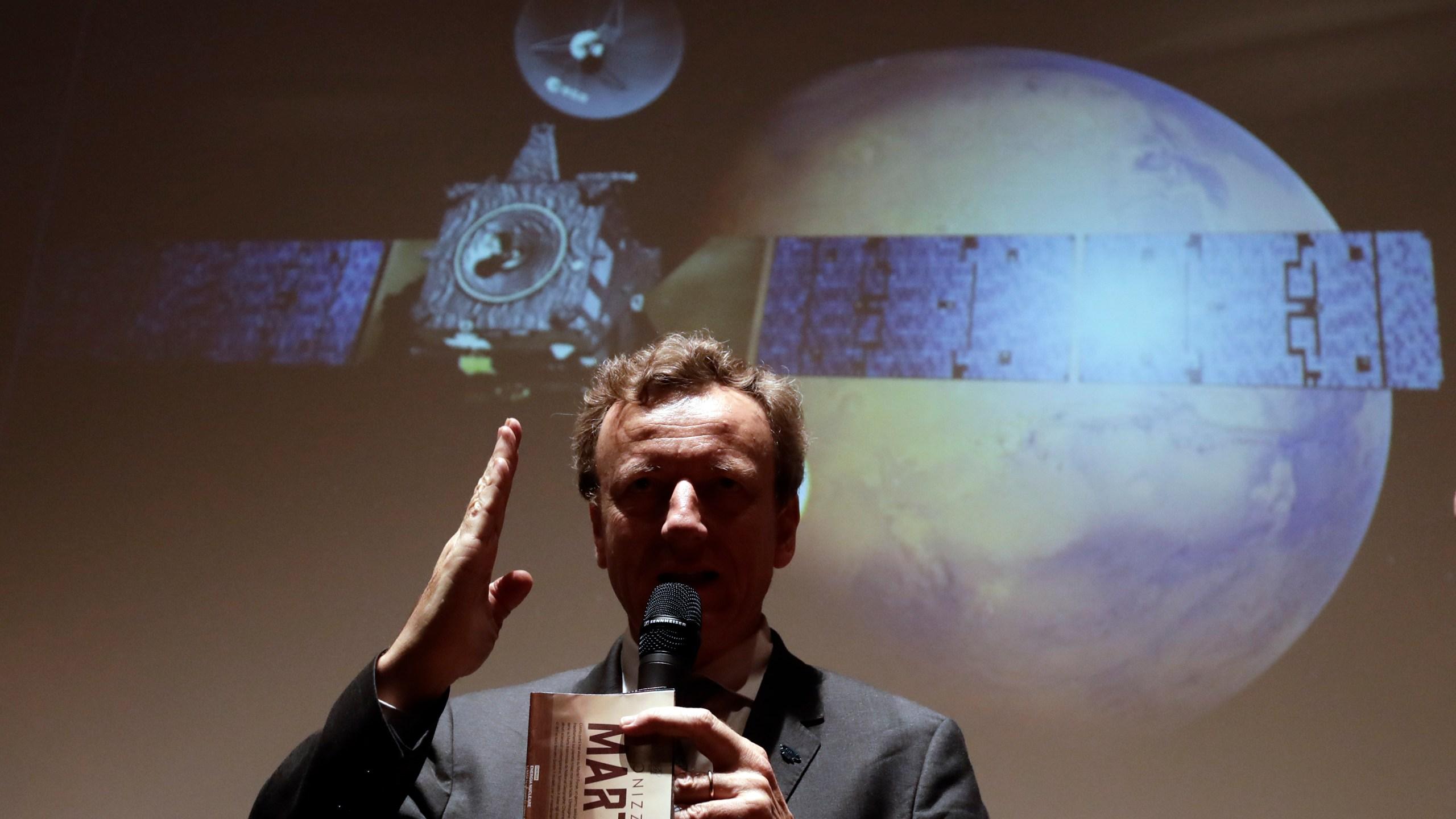 APTOPIX Italy Schiaparelli Module Mars_231207
