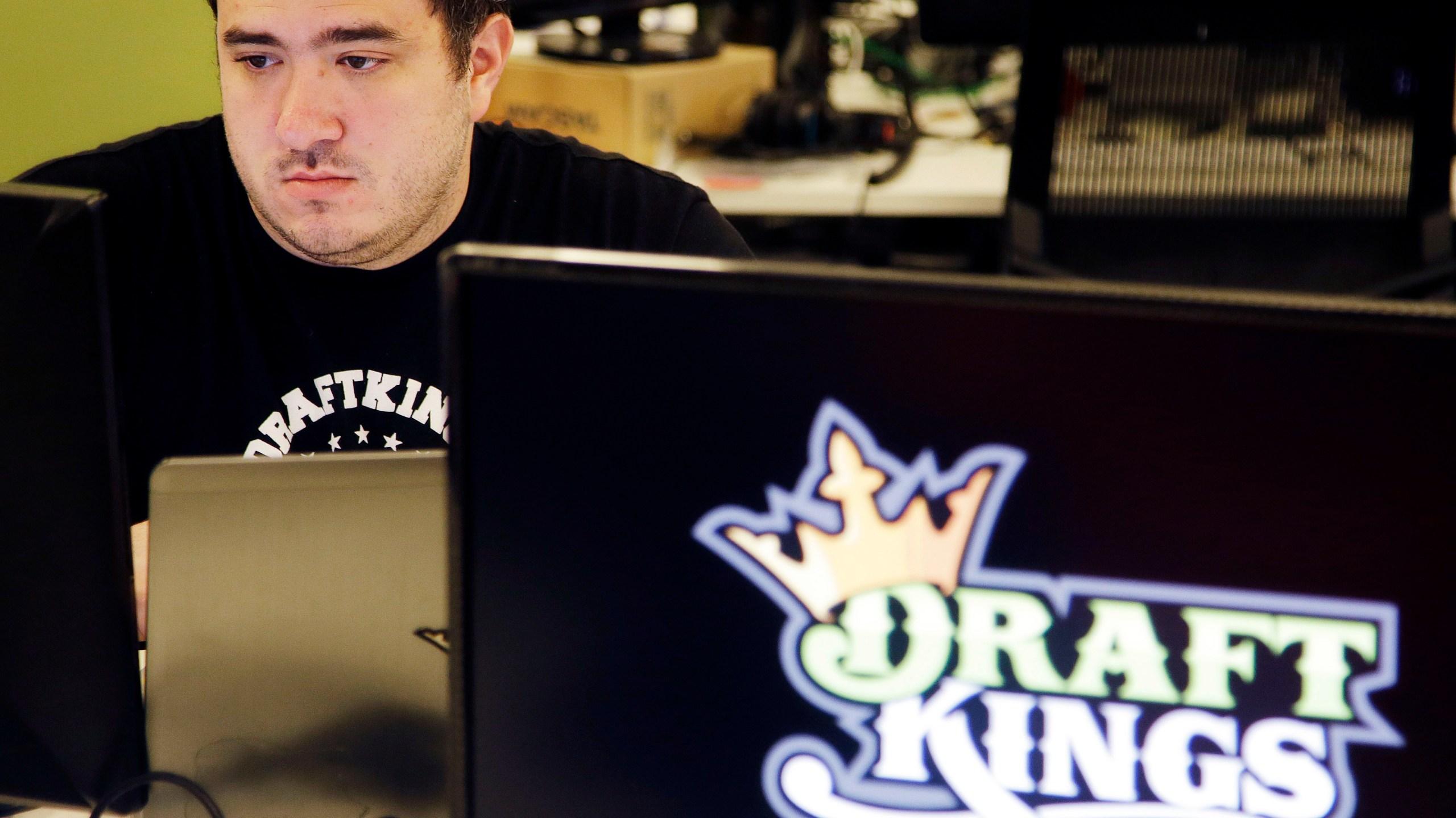 FILE PHOTO Draft Kings _ Daily Fantasy Sports Merger Photo by Stephan Savoia, AP Photo_243636