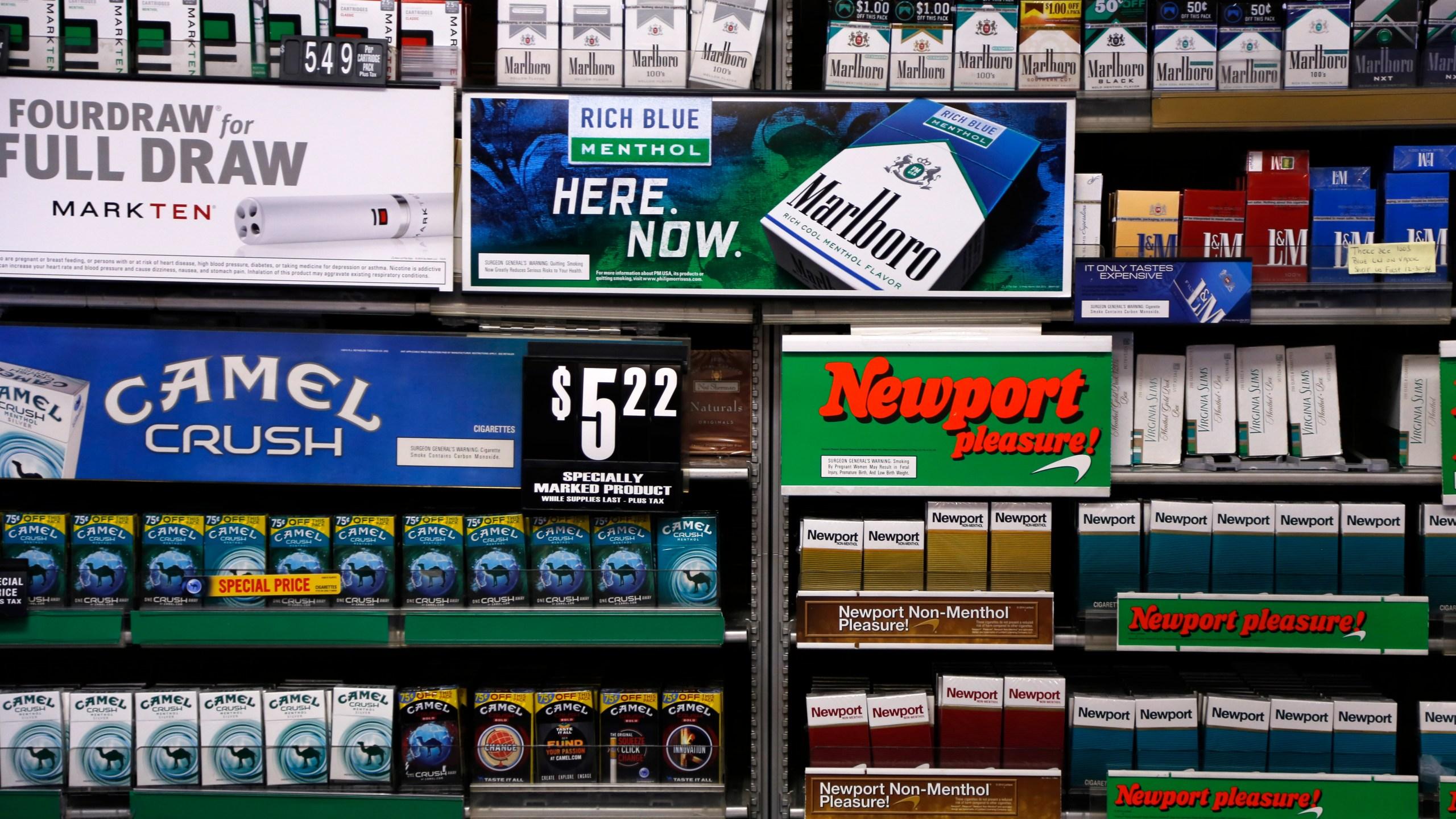 Reynolds American, Camel, Newport, cigarettes Photo by Gene J. Puskar, AP Photo_266612