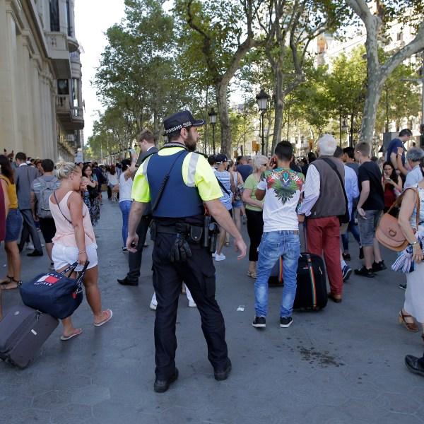 Spain Barcelona Pedestrians Hit_411665
