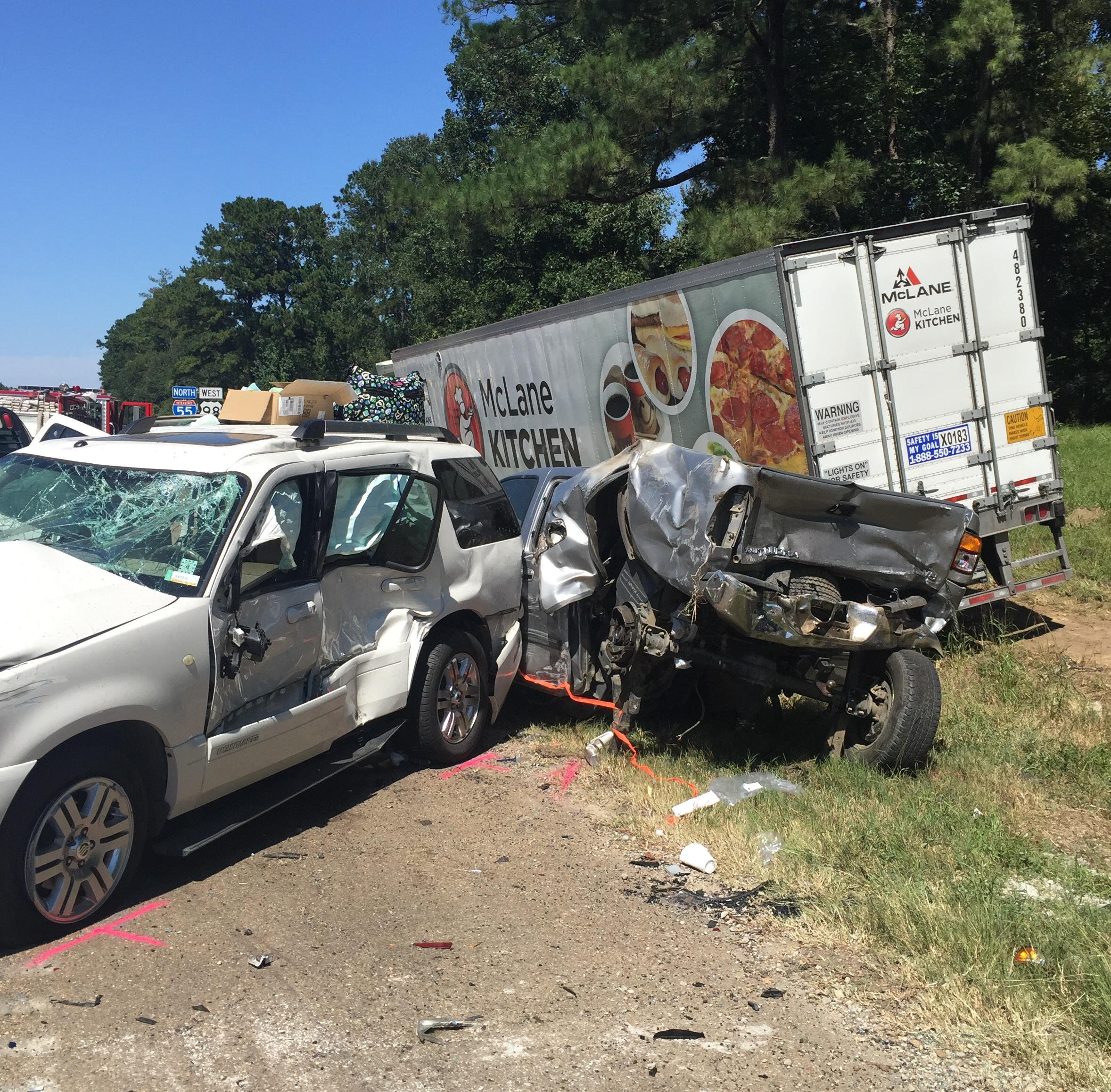 7 vehicles involved in McComb crash
