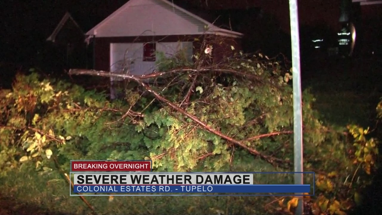 Severe weather causes damage in Tupelo