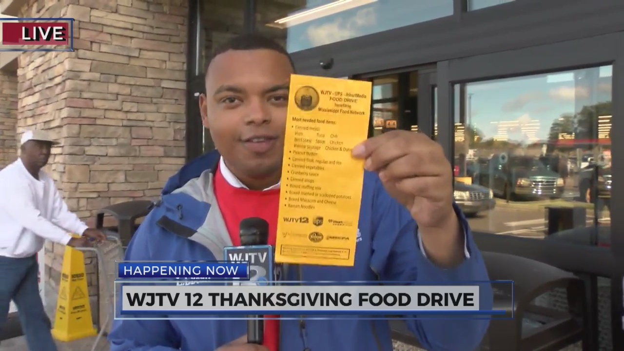 WJTV 12 Thanksgiving Food Drive