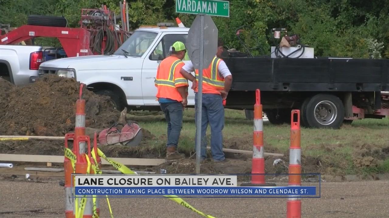 WJTV News at Noon - Bailey Avenue Roadwork
