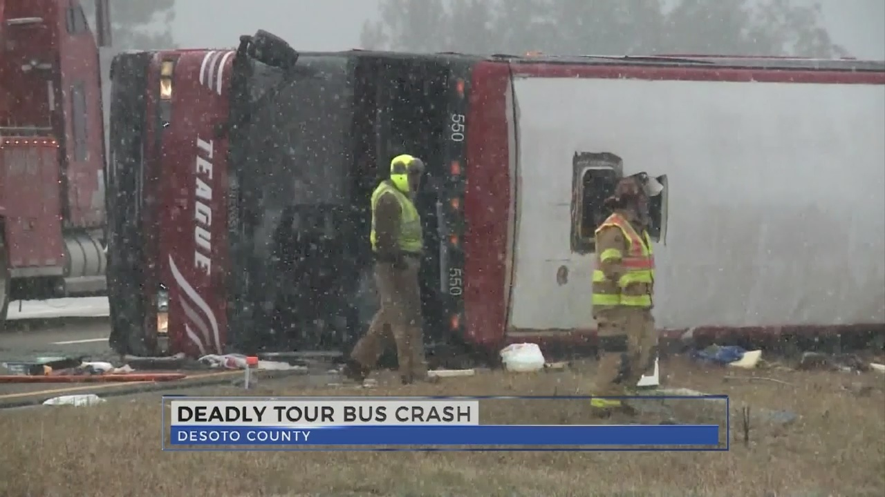 WJTV News at Noon - Tour Bus crash