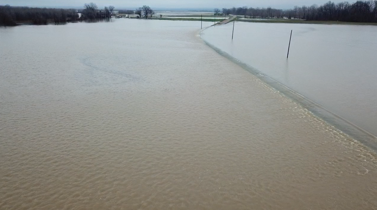 Yazoo County Farm Flooding