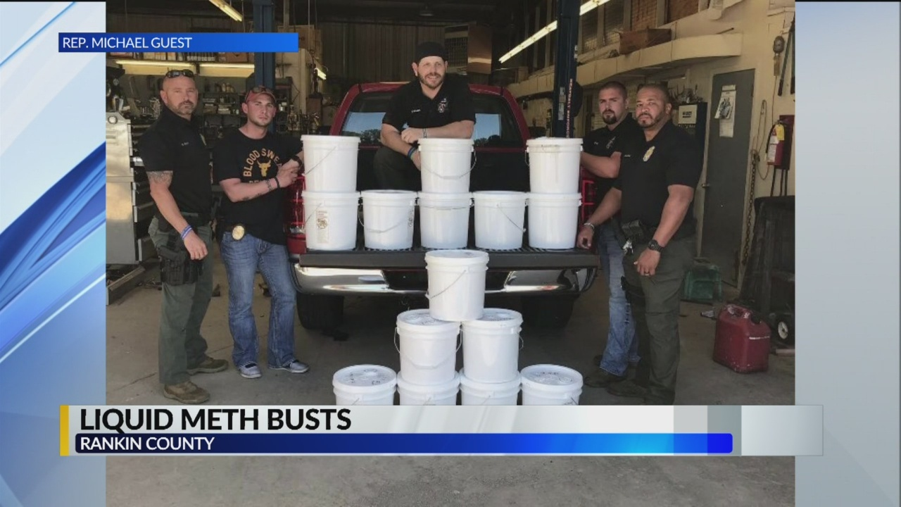 459 lbs of Liquid Meth Seized in Rankin County