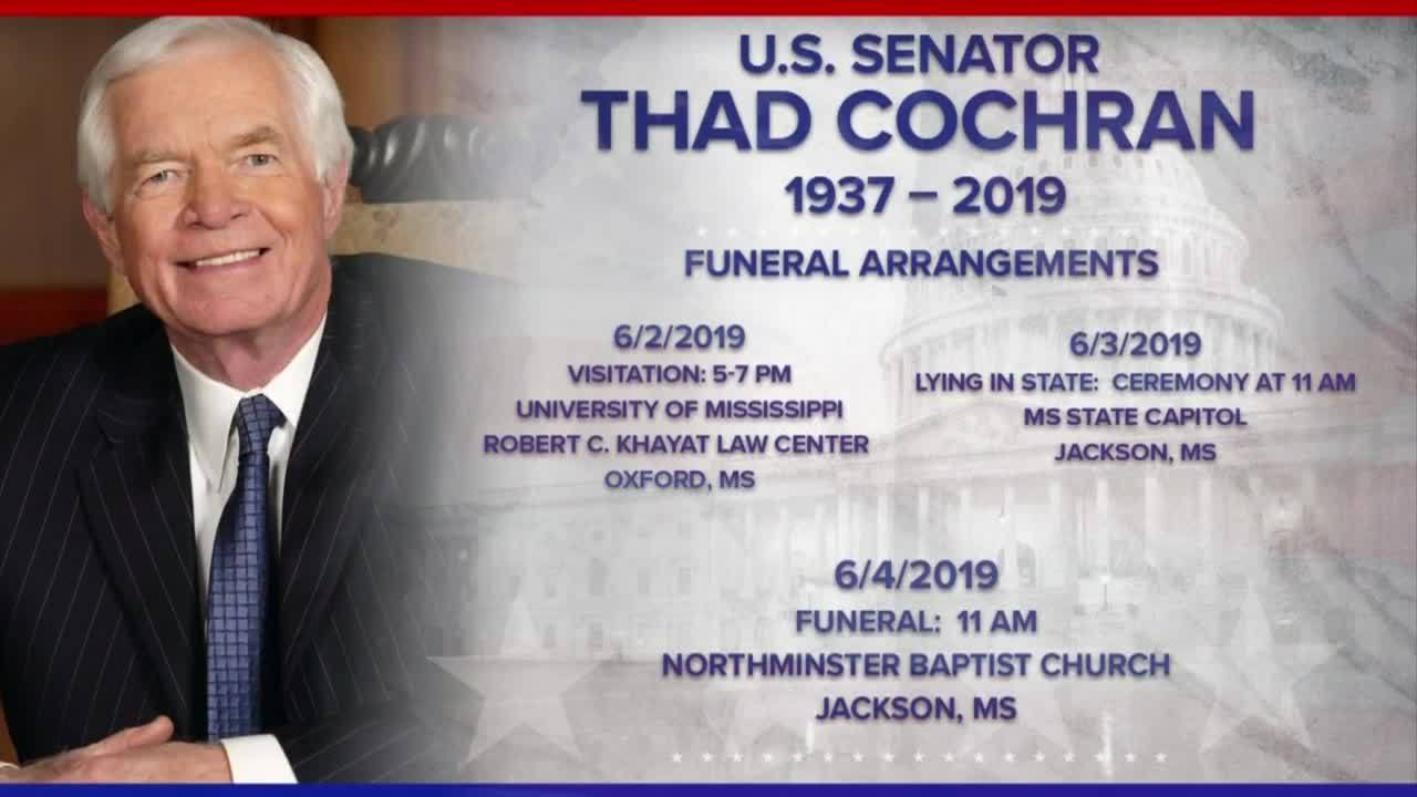 Cochran will lie in state at the Capitol Monday
