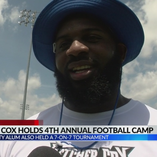 Fletcher Cox holds 4th annual free football camp