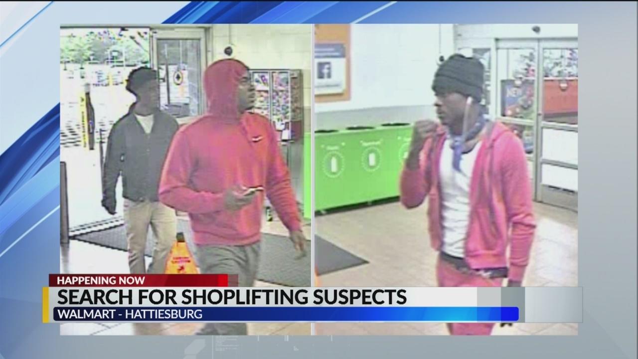 Hattiesburg Police search for Walmart shoplifting suspects