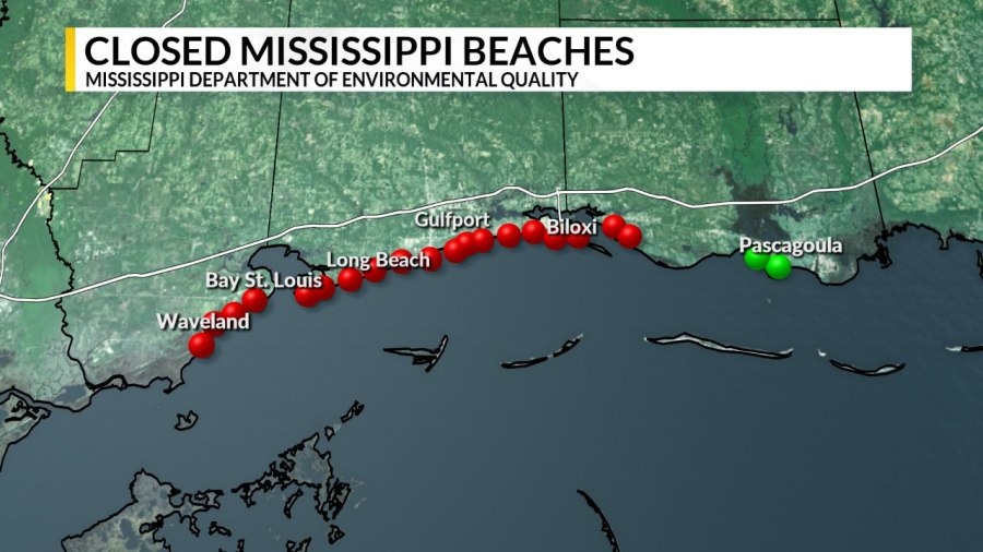 Update All Beaches In Hancock And Harrison Counties Now Closed
