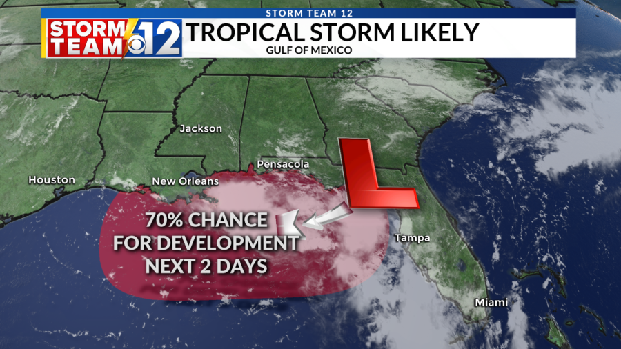 UPDATE: Tropical Storm likely to form in the Gulf of Mexico by