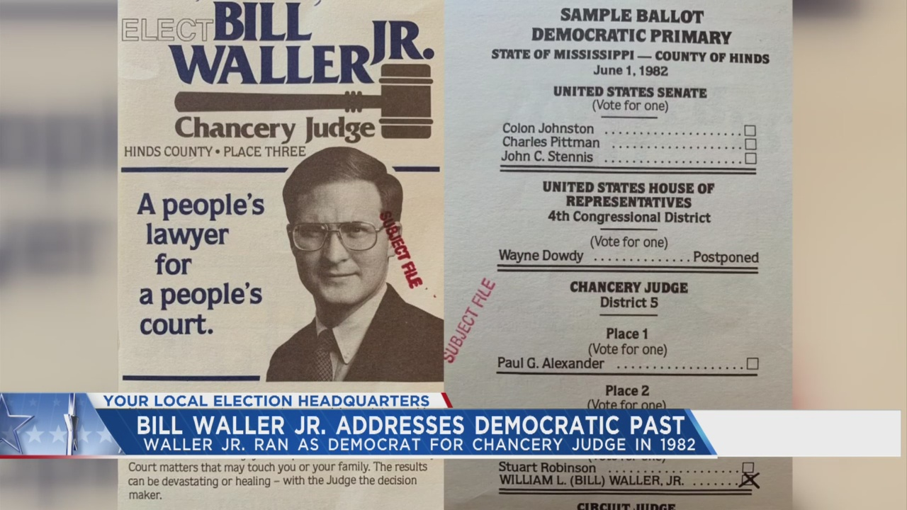 Bill Waller ran as a Democrat in 1982 | WJTV