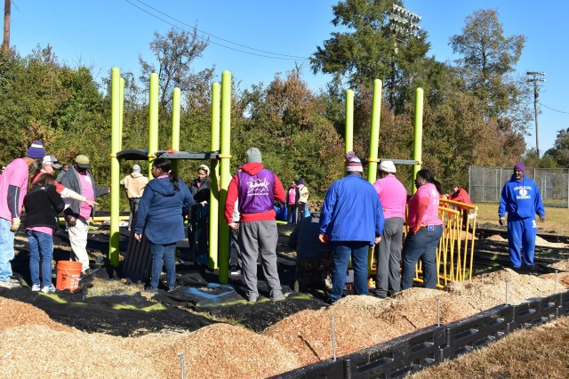 Community builds playground for Boys and Girls Club of Central Mississippi