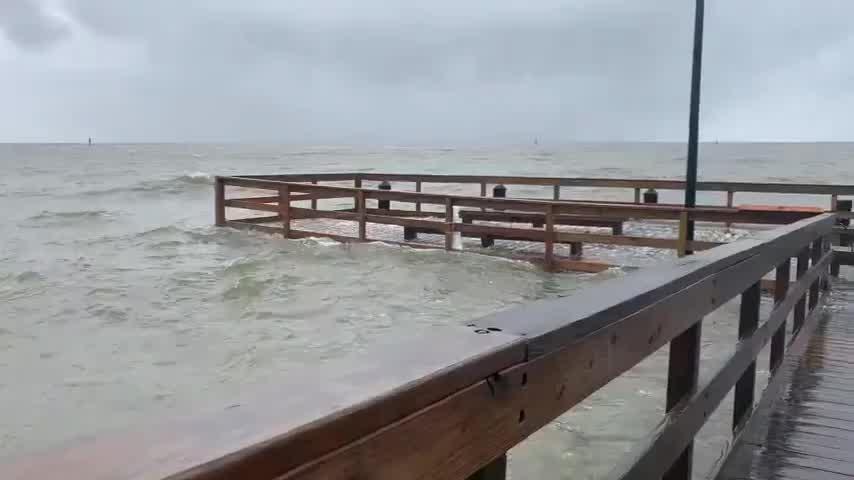 Biloxi Lighthouse Pier Damaged As Tropical Storm Cristobal Approaches Wjtv
