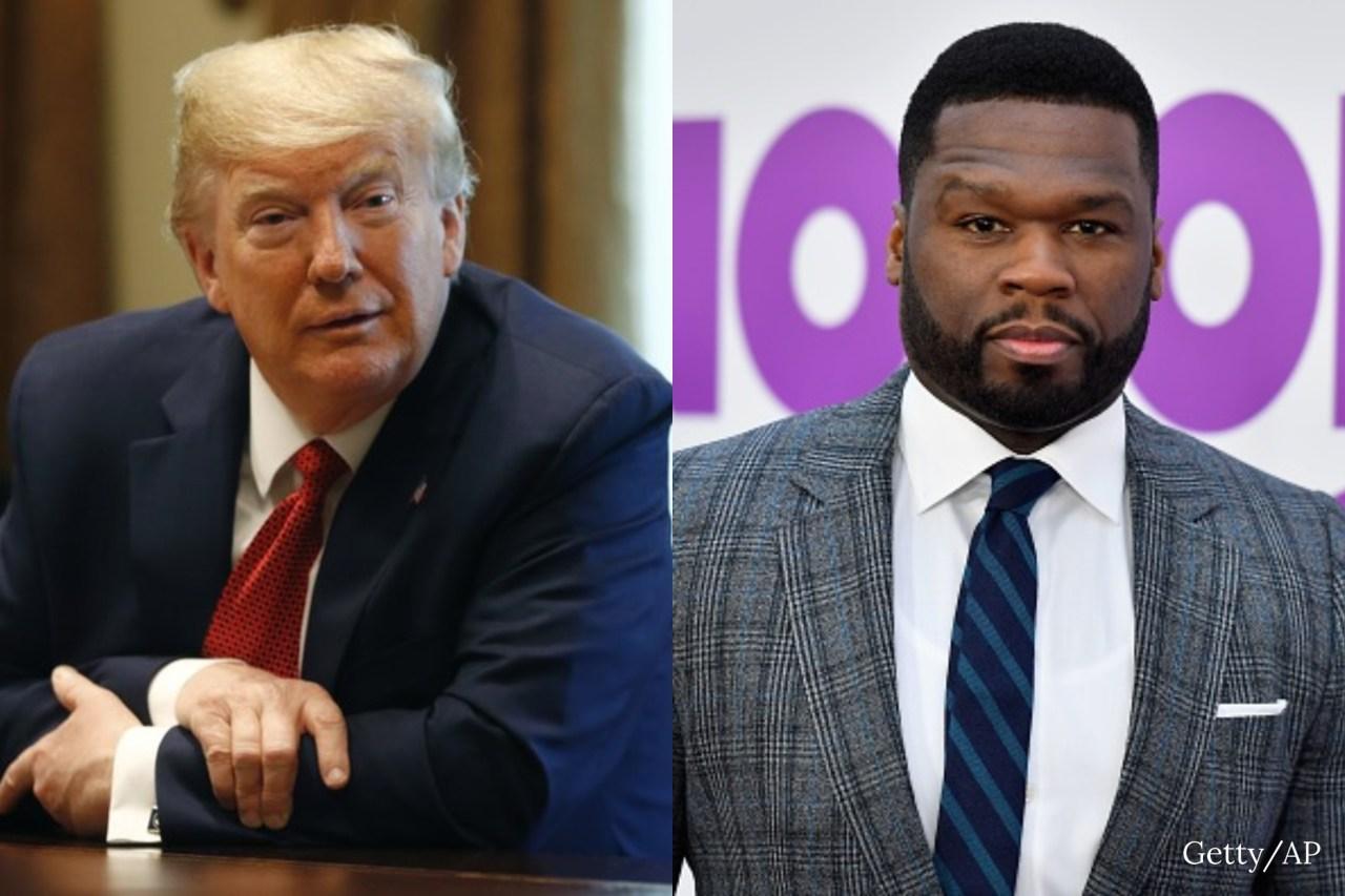 'Bankrupt' 50 Cent endorses Trump for president