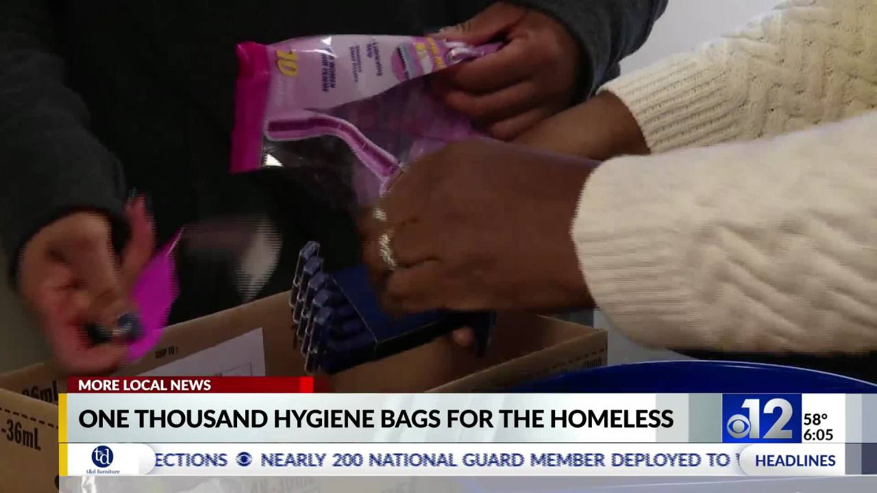 Local organizations donate 1,000 hygiene kits to homeless