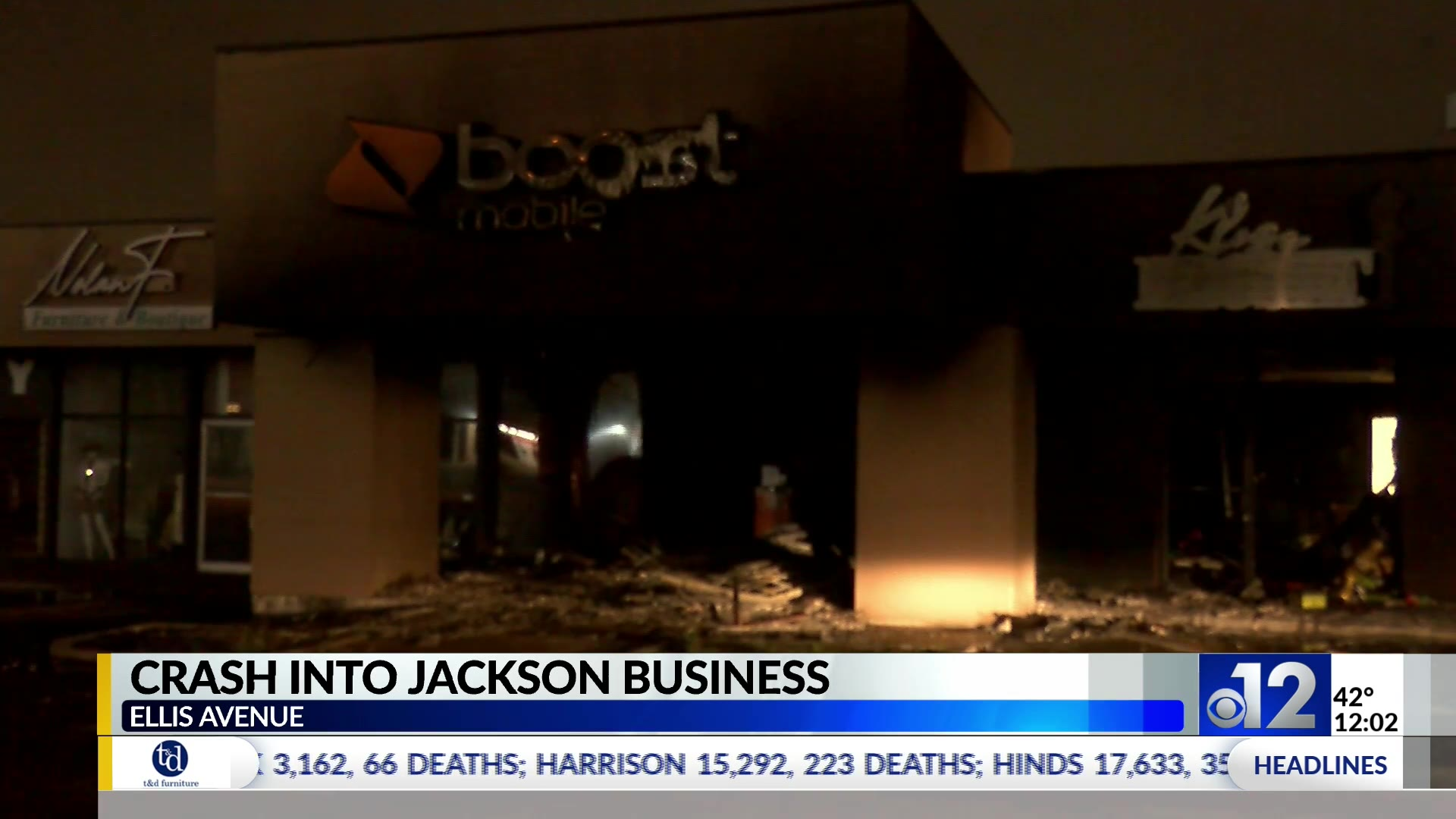 Boost Mobile Store In Jackson Damaged After Fiery Early Morning Crash Wjtv