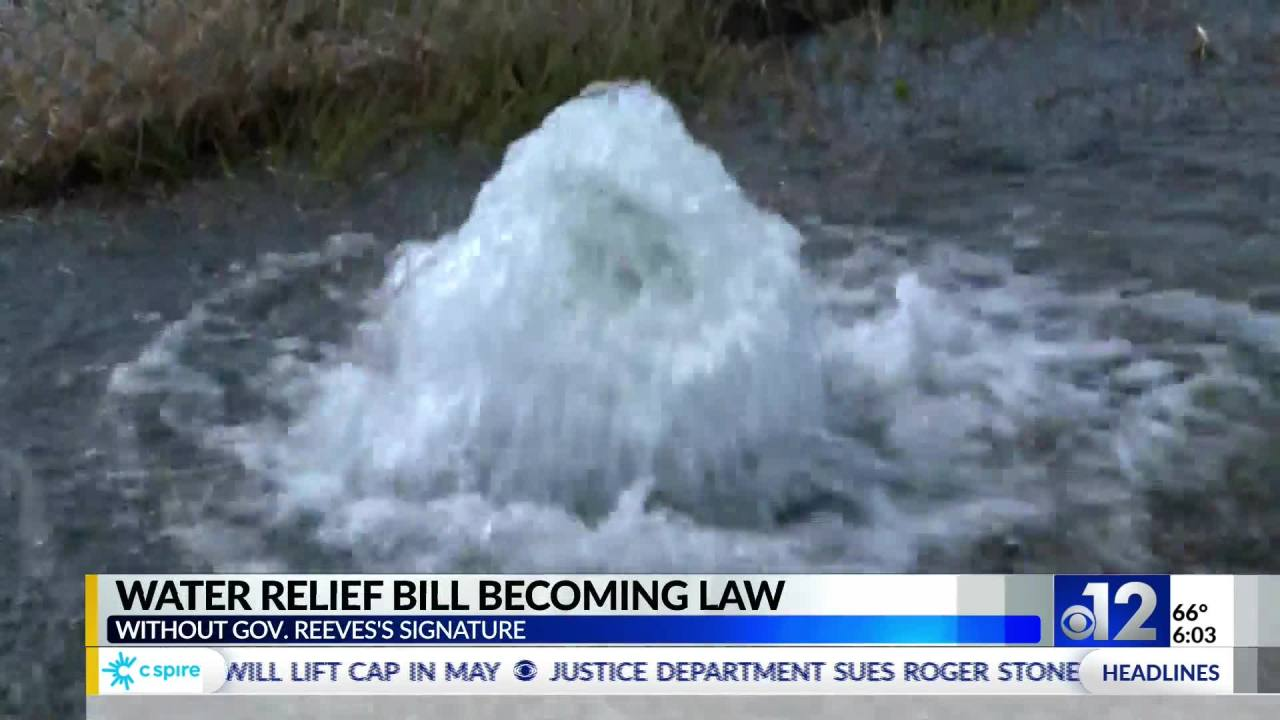 Water relief bill to become law on Sunday without Gov. Reeves' signature